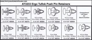 Assortment Tray Tuflok Retainers