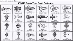 Assortment Tray Screw-Type Panel Fasteners