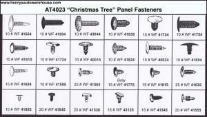 Assortment Tray Christmas Tree-Style Panel Fasteners