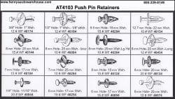 Assortment Tray Push Pin Retainers