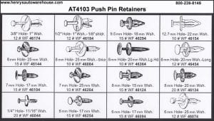 Assortment Tray Push Pin Retainers