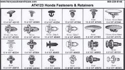 Assortment Tray Honda Retainers