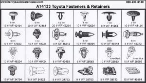 Assortment Tray Toyota Retainers