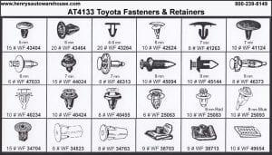 Assortment Tray Toyota Retainers