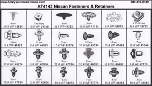 Assortment Tray Nissan Retainers
