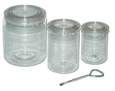 E-Z MIx clear paint cans