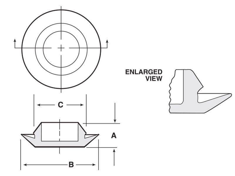 flush hole plug dimensions